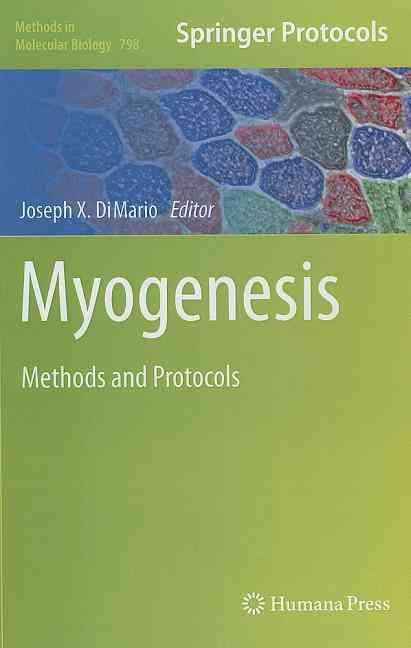 Myogenesis By Dimario, Joseph X. (EDT)